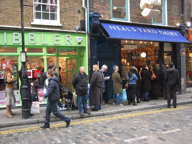 Queue outside cheese shop
